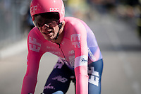 RIgoberto Uran (COL/EF Education First) rolling over the finish line after a very solid TT performance<br /> <br /> Stage 13 (ITT): Pau to Pau (27km)<br /> 106th Tour de France 2019 (2.UWT)<br /> <br /> ©kramon