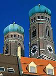 Deutschland, Bayern, Oberbayern, Muenchen: Tuerme der Frauenkirche | Germany, Bavaria, Upper Bavaria, Munich: Church of Our Lady