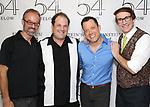 Gary Adler, Jordan Gelber, John Tartaglia and Rick Lyon backstage at the 'Avenue Q' 15th Anniversary Reunion Concert at Feinstein's/54 Below on July 30, 2018 in New York City.