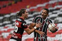 Rio de Janeiro (RJ), 15/07/2020 - Flamengo-Fluminense - Filipe Luis (e) e Gilberto (d). Partida entre Flamengo e Fluminense, válida pela final do Campeonato Carioca 2020, no Estádio Jornalista Mário Filho (Maracanã), na zona norte do Rio de Janeiro, nesta quarta-feira (15).
