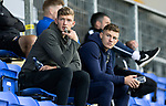 St Johnstone FC…..<br />Liam Gordon (left) and Callum Hendry watch a bounce game<br />Picture by Graeme Hart.<br />Copyright Perthshire Picture Agency<br />Tel: 01738 623350  Mobile: 07990 594431