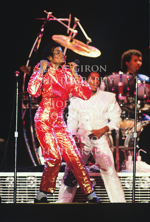 """Michael Jackson performs during the 1984 """"Victory"""" Tour."""