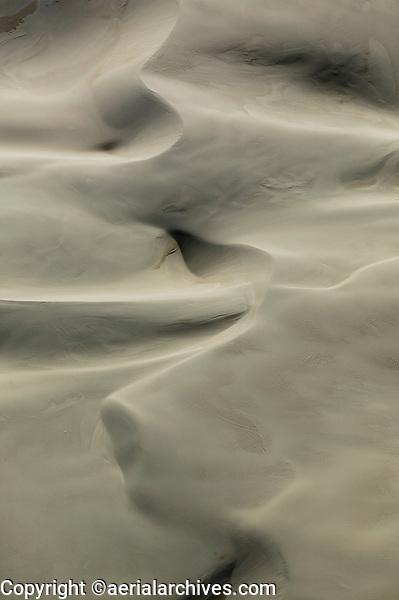 aerial photograph of sand dunes in the Guadalupe Nipomo Dunes Wildlife Refuge, San Luis Obispo County, California