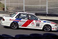 Round 10 of the 1991 British Touring Car Championship. #88 Mark Hales (GBR). Mitsubishi Motors. Mitsubishi Galant.