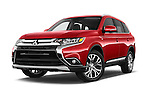 Stock pictures of low aggressive front three quarter view of 2016 Mitsubishi Outlander GT 5 Door SUV Low Aggressive