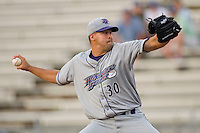 Winston-Salem Dash starting pitcher Anthony Carter #30 in action versus the Potomac Nationals at Pfitzner Stadium June 11, 2009 in Woodbridge, Virginia. (Photo by Brian Westerholt / Four Seam Images)