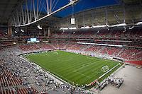The stadium begins to fill. USA 2, Mexico 0, at the University of Phoenix Stadium in Glendale, AZ on February 7, 2007.