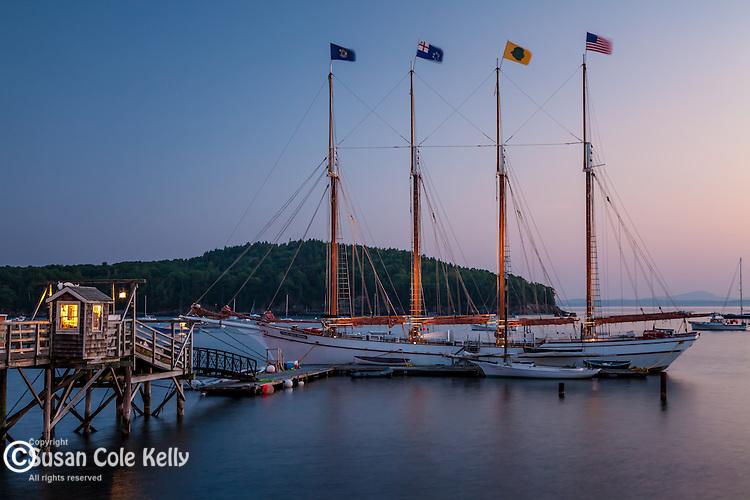 The schooner Margaret Todd in Bar Harbor, ME, USA