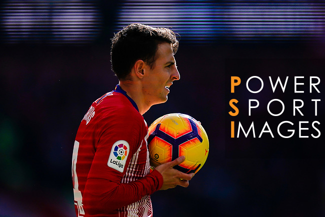 Santiago Arias of Atletico de Madrid reacts during the La Liga 2018-19 match between Atletico de Madrid and Deportivo Alaves at Wanda Metropolitano on December 08 2018 in Madrid, Spain. Photo by Diego Souto / Power Sport Images