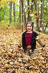 A Bet Torah Famiiy's Autumn  Bat Mitzvah Portraits in the Sleepy Hollow woods.