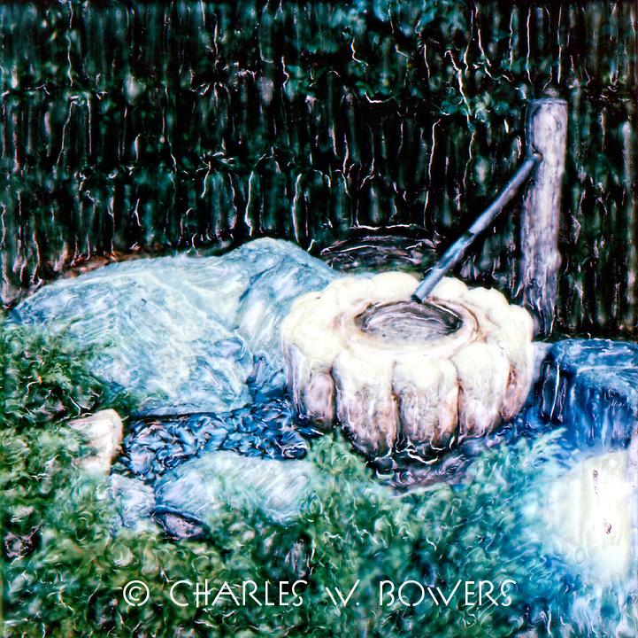 Shishi-odoshi, water, fountain, japanese, garden, meditation