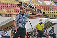 VILLAVICENCIO - COLOMBIA, 18-03-2021: Llaneros F.C. y Atletico F.C. durante partido de la fecha 2 vuelta primera ronda de clasificacion Copa Betplay DIMAYOR 2021 en el estadio Bello Horizonte de la ciudad de Villavicencio, Meta. / Llaneros F.C. and Atletico F.C. during a match of the 2nd date round of qualification Betplay DIMAYOR 2021 Cup at the Bello Horizonte stadium in Villavicencio city, Meta. Photo: VizzorImage / Juan Herrera / Cont