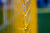 SAN JOSE, CA - AUGUST 31: Netting of the San Jose Earthquakes during a Major League Soccer (MLS) match between the San Jose Earthquakes and the Orlando City SC  on August 31, 2019 at Avaya Stadium in San Jose, California.