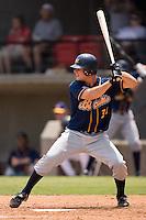 Montgomery catcher John Jaso (37) at bat versus Carolina at Five County Stadium in Zebulon, NC, Wednesday, July 18, 2007.