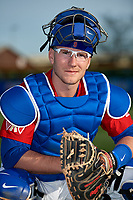 Buffalo Bisons catcher Danny Jansen (9) poses for a photo before a game against the Scranton/Wilkes-Barre RailRiders on May 18, 2018 at Coca-Cola Field in Buffalo, New York.  Buffalo defeated Scranton 5-1.  (Mike Janes/Four Seam Images)