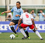 Manchester City plays Yau Yee League Select during the HKFC Citibank International Soccer Sevens at the Hong Kong Football Club on 25 May 2013 in Hong Kong, China. Photo by Victor Fraile / The Power of Sport Images