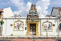 George Town, Penang, Malaysia. Sri Maha Mariamman Hindu Temple.