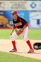 June 22nd 2008:  Infielder Colt Sedbrook (2) of the Batavia Muckdogs, Class-A affiliate of the St. Louis Cardinals, during a game at Dwyer Stadium in Batavia, NY.  Photo by:  Mike Janes/Four Seam Images