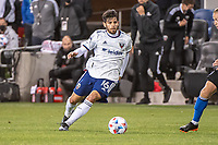 SAN JOSE, CA - MAY 01: Adrien Perez #16 of DC United dribbles the ball during a game between San Jose Earthquakes and D.C. United at PayPal Park on May 01, 2021 in San Jose, California.