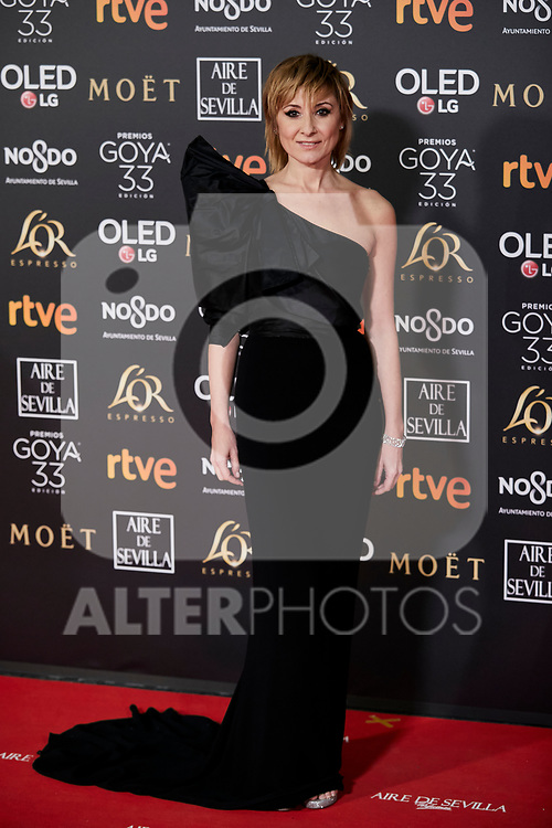 Nathalie Poza attends to 33rd Goya Awards at Fibes - Conference and Exhibition  in Seville, Spain. February 02, 2019. (ALTERPHOTOS/A. Perez Meca)