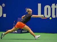 Rotterdam, Netherlands, December 20, 2015,  Topsport Centrum, Lotto NK Tennis, Final womans single Richel Hogenkamp (NED)<br /> Photo: Tennisimages/Henk Koster