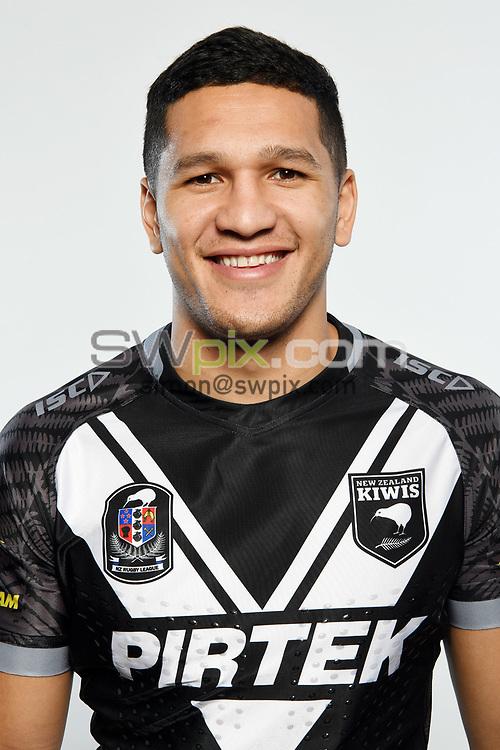 Dallin Watene-Zelezniak.<br /> Headshots of the New Zealand Kiwis rugby league team, Auckland, New Zealand. 7 October 2018.<br /> Copyright photo: Andrew Cornaga / www.photosport.nz - ©PhotosportNZ/SWpix.com