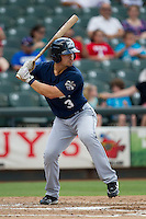 New Orleans Zephyrs outfielder Jake Smolinski (3) at bat during the Pacific Coast League baseball game against the Round Rock Express on June 30, 2013 at the Dell Diamond in Round Rock, Texas. Round Rock defeated New Orleans 5-1. (Andrew Woolley/Four Seam Images)