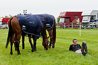 NZL-Mark Todd enjoys a moment of Irish-time!!!  2012 IRL-Tattersalls International Horse Trial: Tuesday Arrival Day