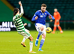 Celtic v St Johnstone…06.12.20   Celtic Park      SPFL<br />Shaun Rooney and Diego Laxalt<br />Picture by Graeme Hart.<br />Copyright Perthshire Picture Agency<br />Tel: 01738 623350  Mobile: 07990 594431