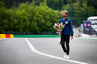 27th August 2020, Spa Francorhamps, Belgium, F1  Grand Prix of Belgium Motorsports: FIA Formula One World Championship 2020, 10 Pierre Gasly FRA, Scuderia AlphaTauri Honda with flowers in memory of Anthoine Hubert FRA, who died during an F2 accident in 2019 Spa-Francorchamps Belgium *** Motorsports FIA Formula One World Championship 2020, Grand Prix of Belgium, 10 Pierre Gasly FRA, Scuderia AlphaTauri Honda with flowers in memory of Anthoine Hubert FRA , who died during an F2 accident in 2019 Spa Francorchamps Belgium