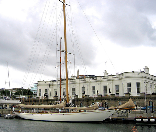 Record-holder: the 1926-vintage 70ft Fife cutter Hallowe'en, syndicate-owned at the Royal Irish YC, set the first significant Fastnet Race record in 1926 – Hallowe'en's time stood for thirteen years through ten races