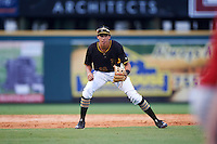 Bradenton Marauders shortstop Cole Tucker (18) during a game against the Palm Beach Cardinals on August 8, 2016 at McKechnie Field in Bradenton, Florida.  Bradenton defeated Palm Beach 5-4.  (Mike Janes/Four Seam Images)
