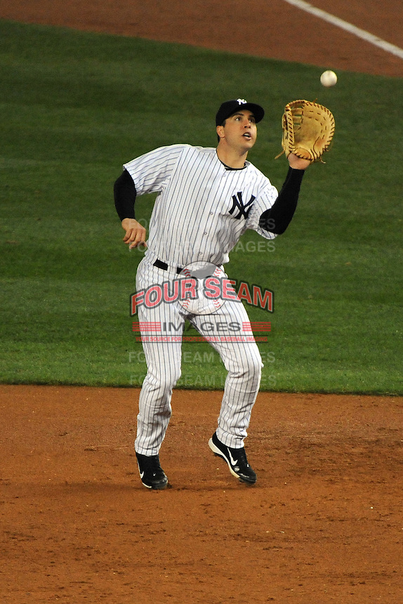 New York Yankees first baseman Mark Teixeira #25 during ALDS game #5 against the Detroit Tigers at Yankee Stadium on October 06, 2011 in Bronx, NY.  Detroit defeated New York 3-2 to take the series 3 games to 2 games.  Tomasso DeRosa/Four Seam Images
