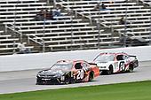 #20: Christopher Bell, Joe Gibbs Racing, Toyota Camry GameStop/Hello Neighbor, #24: Kaz Grala, JGL Racing, Ford Mustang NETTTS