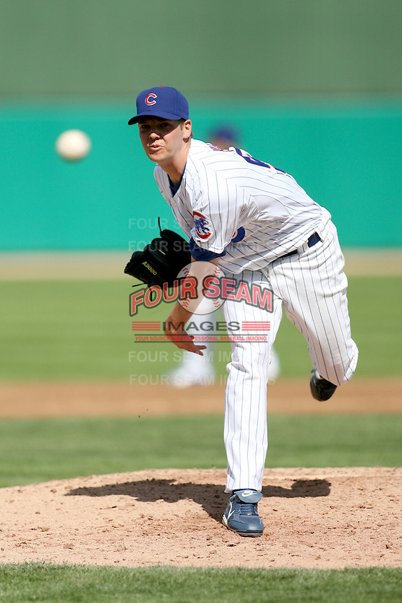 February 29, 2008: Rich Hill of the Chicago Cubs at Hohokam Park during spring training in Mesa, AZ. Photo by:  Chris Proctor/Four Seam Images