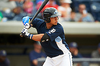 West Michigan Whitecaps shortstop Steven Fuentes (16) at bat during a game against the Cedar Rapids Kernels on June 7, 2015 at Fifth Third Ballpark in Comstock Park, Michigan.  West Michigan defeated Cedar Rapids 6-2.  (Mike Janes/Four Seam Images)