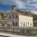 School House, Bannack, Montana, a ghost town preserved as a Montana State Park. Camping is peaceful, the town historic.  A remnant of Montana's gold mining history the park is west of Dillon, Montana a few miles off State Highway 278.  Masonic Lodge was upstairs.  Lewis and Clark passed through here.