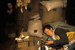 Chasing the dragon opium addict Northern Thailand South east Asia. Upstate Chiang Rai province. 1990s