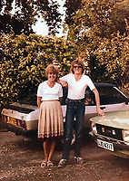 BNPS.co.uk (01202) 558833<br /> Pic: KevinBetteridge/BNPS<br /> <br /> Pictured: Kevin with his late mother Pam in the 1980's<br /> <br /> Ice cream man Kevin Bettteridge makes an epic 750 mile round trip to the seaside to sell his goods.<br /> <br /> Kevin lives in Newcastle but drives 10 hours to Swanage, Dorset, every summer. <br /> <br /> His parents moved to the south coast 25 years ago and the 64-year-old spends three weeks of the year visiting them.