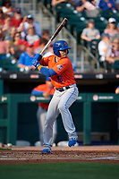 Syracuse Mets Danny Espinosa (18) bats during an International League game against the Buffalo Bisons on June 29, 2019 at Sahlen Field in Buffalo, New York.  Buffalo defeated Syracuse 9-3.  (Mike Janes/Four Seam Images)