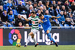 Jordan Moreno of SD Eibar (L) fights for the ball with Fayçal Fajr of Getafe CF (R) during the La Liga 2017-18 match between Getafe CF and SD Eibar at Coliseum Alfonso Perez Stadium on 09 December 2017 in Getafe, Spain. Photo by Diego Souto / Power Sport Images