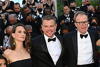 CANNES, FRANCE. July 8, 2021: Camille Cottin, Matt Damon & Tom McCarthy at the Stillwater Premiere at the 74th Festival de Cannes.<br /> Picture: Paul Smith / Featureflash