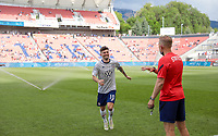 SANDY, UT - JUNE 10: Christian Pulisic #10 of the United States exiting the field before a game between Costa Rica and USMNT at Rio Tinto Stadium on June 10, 2021 in Sandy, Utah.