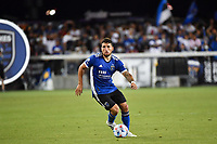 SAN JOSE, CA - JUNE 26: Eric Remedi #5 of the San Jose Earthquakes during a game between Los Angeles Galaxy and San Jose Earthquakes at PayPal Park on June 26, 2021 in San Jose, California.
