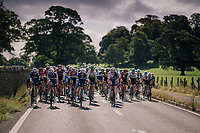 Team QuickStep Floors fronting the peloton<br /> <br /> Racing in/around Lake District National Parc / Cumbria<br /> <br /> Stage 6: Barrow-in-Furness to Whinlatter Pass   (168km)<br /> 15th Ovo Energy Tour of Britain 2018