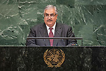 General Assembly Seventy-third session, 14th plenary meeting<br /> <br /> <br /> His Excellency Shaikh Khalid Bin Ahmed AL-KHALIFAMinister for Foreign Affairs of Bahrain