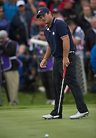 27.09.2014. Gleneagles, Auchterarder, Perthshire, Scotland.  The Ryder Cup.  Patrick Reed [USA] on the third green.  Saturday Foursooms.