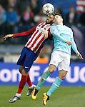 Atletico de Madrid's Yannick Carrasco (l) and PSV Eindhoven's  Marco Van Ginkel during UEFA Champions League match. March 15,2016. (ALTERPHOTOS/Acero)
