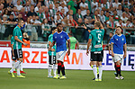 22.08.2019 Legia Warsaw v Rangers: Alfredo Morelos told to walk. the long way around the track after being subbed