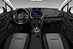 Stock photo of straight dashboard view of a 2018 Subaru Crosstrek 4wd 5 Door SUV